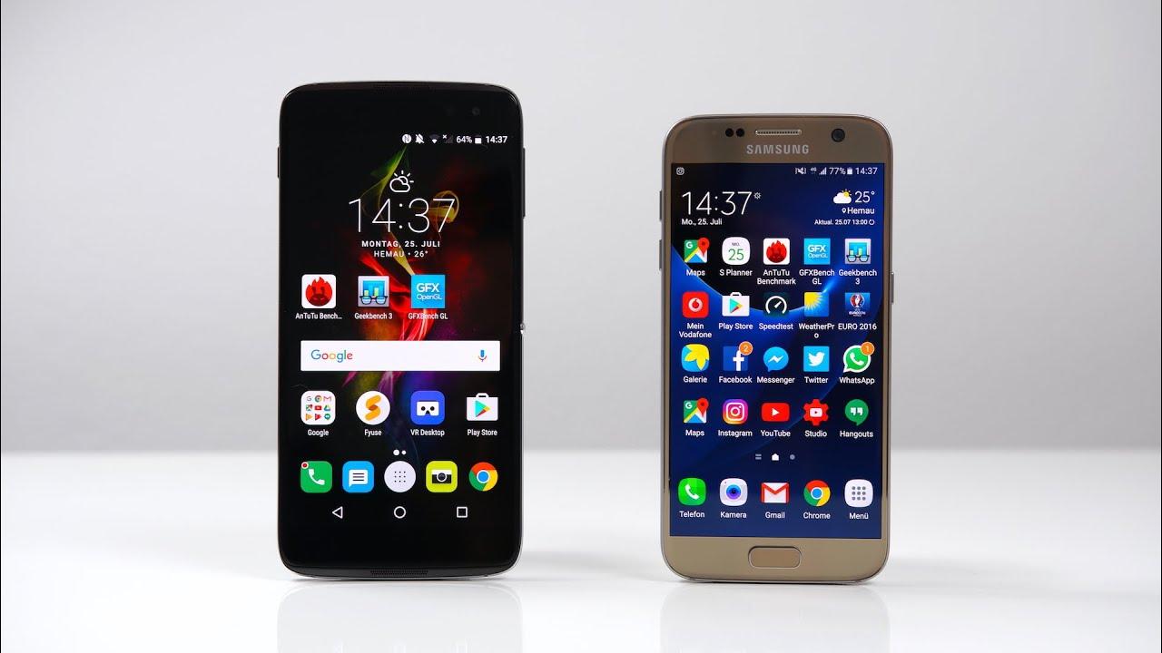 Alcatel Idol 4s and Samsung Galaxy S7 - Comparison