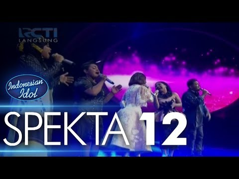 ALL CONTESTANTS ft. ROSSA - TERLALU CINTA - Spekta Show Top 4 - Indonesian Idol 2018