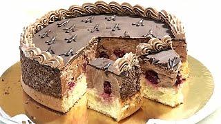 Торт ГУСИНЫЕ ЛАПКИ с вишней и шоколадным кремом Рецепт по ГОСТу Chocolate cream cake
