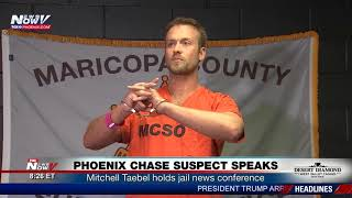 CHASE SUSPECT SPEAKS: Mitchell Taebel holds jail news conference (FNN)