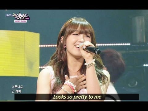 Huh Gak and Jeong Eunji - Short Hair (2013.06.29) [Music Bank w/ Eng Lyrics]