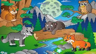 Загадки  - Лесные жители.  Мультфильм развивающий (игра)