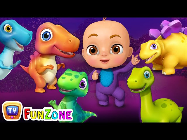 Five Little Dinos Went Out One Day - Dinosaur Rhymes for Kids | ChuChu TV 3D Nursery Rhymes & Songs