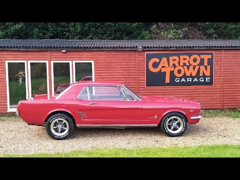 Video Review Of 1966 Ford Mustang 289 A Code Manual For Sale Carrot Town Garage Cambridgeshire UK