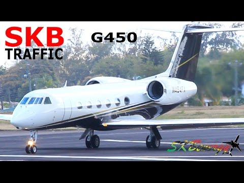 Lovely FLEXJET GIV-X (G450) taxi and departure out of St. Kitts Airport !!!