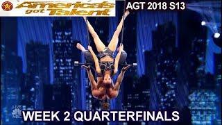 Duo Transcend Trapeze TRIED AGAIN BLINDFOLDED TRICK QUARTERFINALS 2 America's Got Talent 2018 AGT