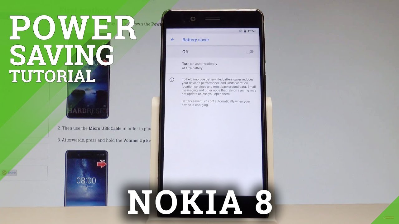 How to Enable Power Saving Mode on NOKIA 8 - Save Battery |HardReset Info