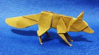【折り紙】 キツネ 【折り方】 origami fox tutorial thumbnail