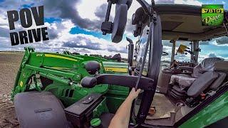 John Deere 6155M - POV Work Drive!