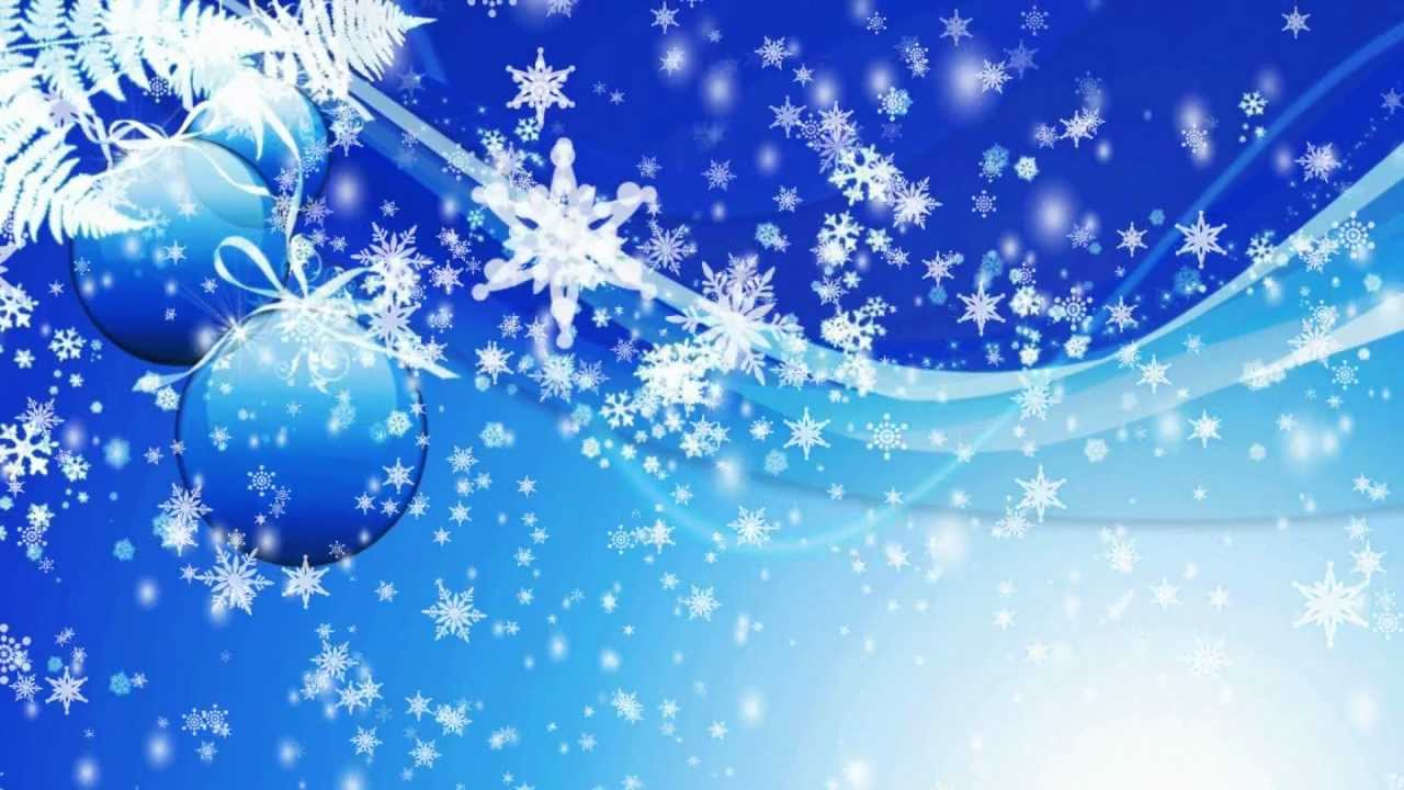 Snowflakes Falling Motion Graphic Video Loop Free Download