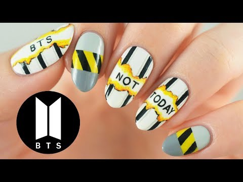 "BTS ""Not Today"" Nail Art Tutorial   Official MV Inspired"