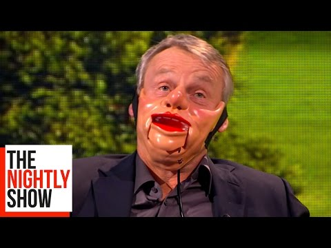 Nina Conti Turns Martin Clunes Into A Ventriloquist Dummy  The Nightly