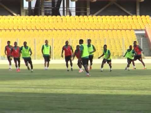 GHANA Black Stars Train Today at Accra Sports Stadium