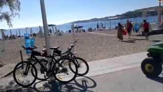 пляж Вулягмени 28 октября, в день ОХИ. Афины, Греция(в праздник - день ОХИ, плаваю на пляже в Вулягмени. Вода + 23 + 24 28 октября 2013., 2013-10-28T19:03:05.000Z)