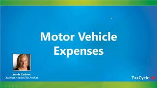 Motor Vehicle Expenses - Webinar from March 20, 2018