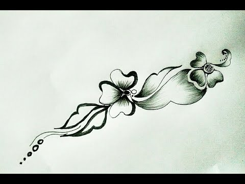 Flower Design Pencil Shading DIY Flower Design Pencil Art YouTube