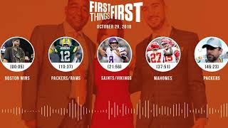 First Things First audio podcast(10.29.18)Cris Carter, Nick Wright, Jenna Wolfe | FIRST THINGS FIRST