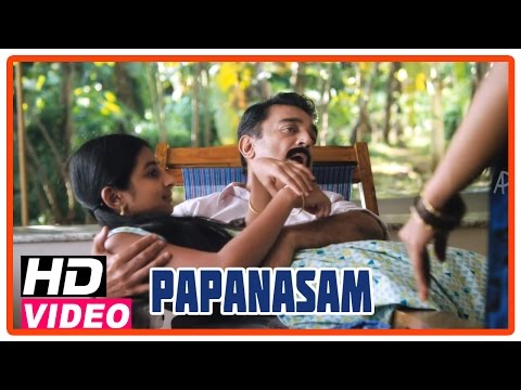 Papanasam Tamil Movie | Scenes | Nivedha tells about her camp experiances to Kamal Haasan | Gautami