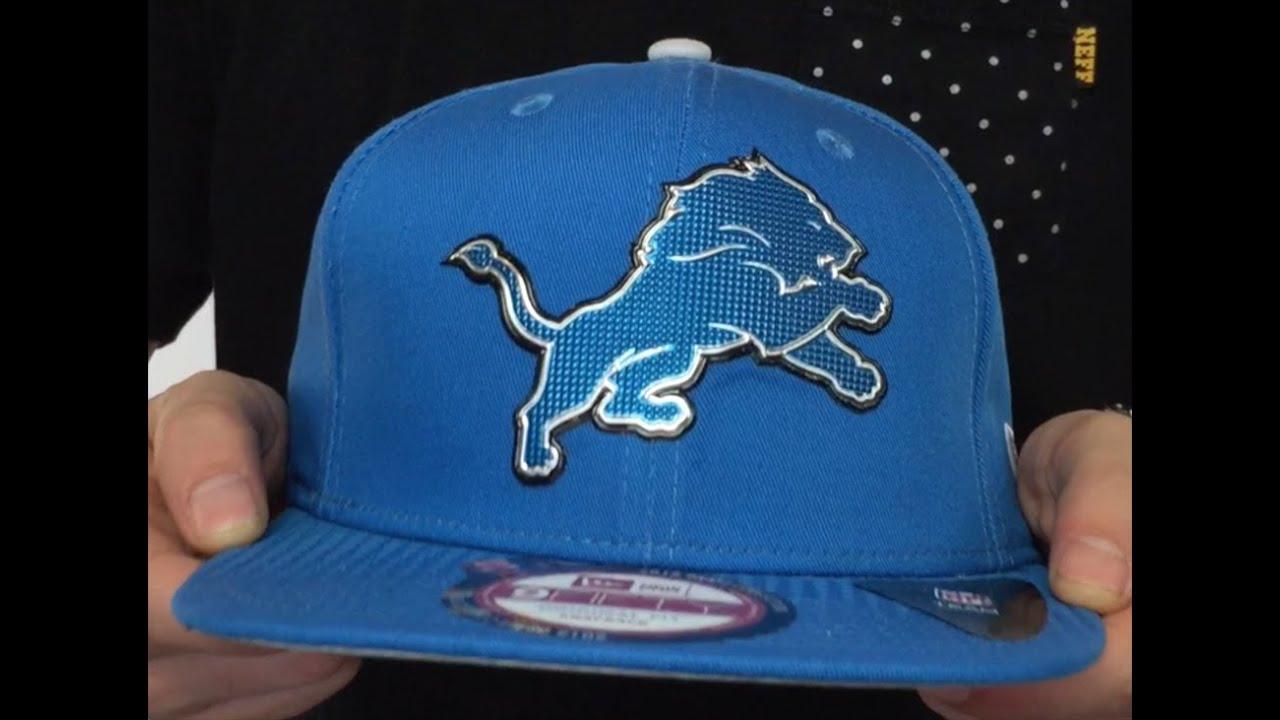 244ad673fbd Lions  2015 NFL DRAFT SNAPBACK  Blue Hat by New Era - YouTube