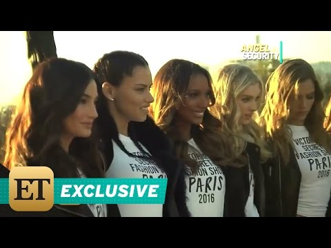 EXCLUSIVE: Victoria's Secret Angels Take ET's Kevin Frazier Along on Trip to the Eiffel Tower