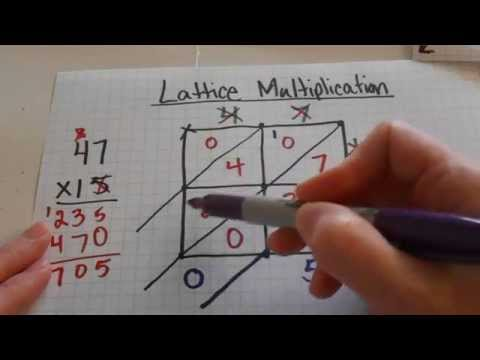 How To Do Lattice Multiplication (3rd And 4th Grade)