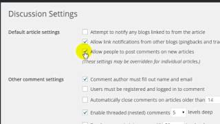 How to enable comments in wordpress