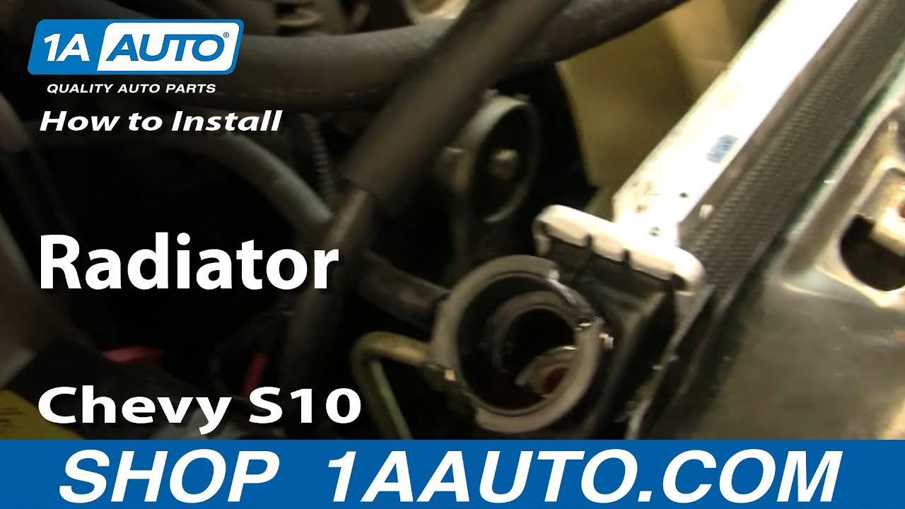 How To Install Replace Radiator Chevy S10 Similar Most Cars And 1999 Blazer Engine Diagram Trucks 1aautocom Youtube