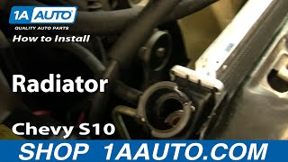 How To Install Replace Radiator Chevy S10 similar to most cars and trucks 1AAuto.com