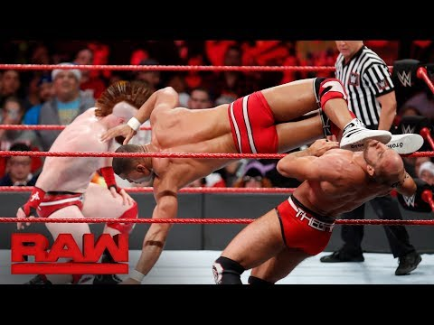 Cesaro & Sheamus vs. Seth Rollins & Jason Jordan - Raw Tag Team Title Match: Raw, Dec. 25, 2017