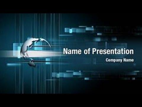 Digital World Powerpoint Video Template Backgrounds