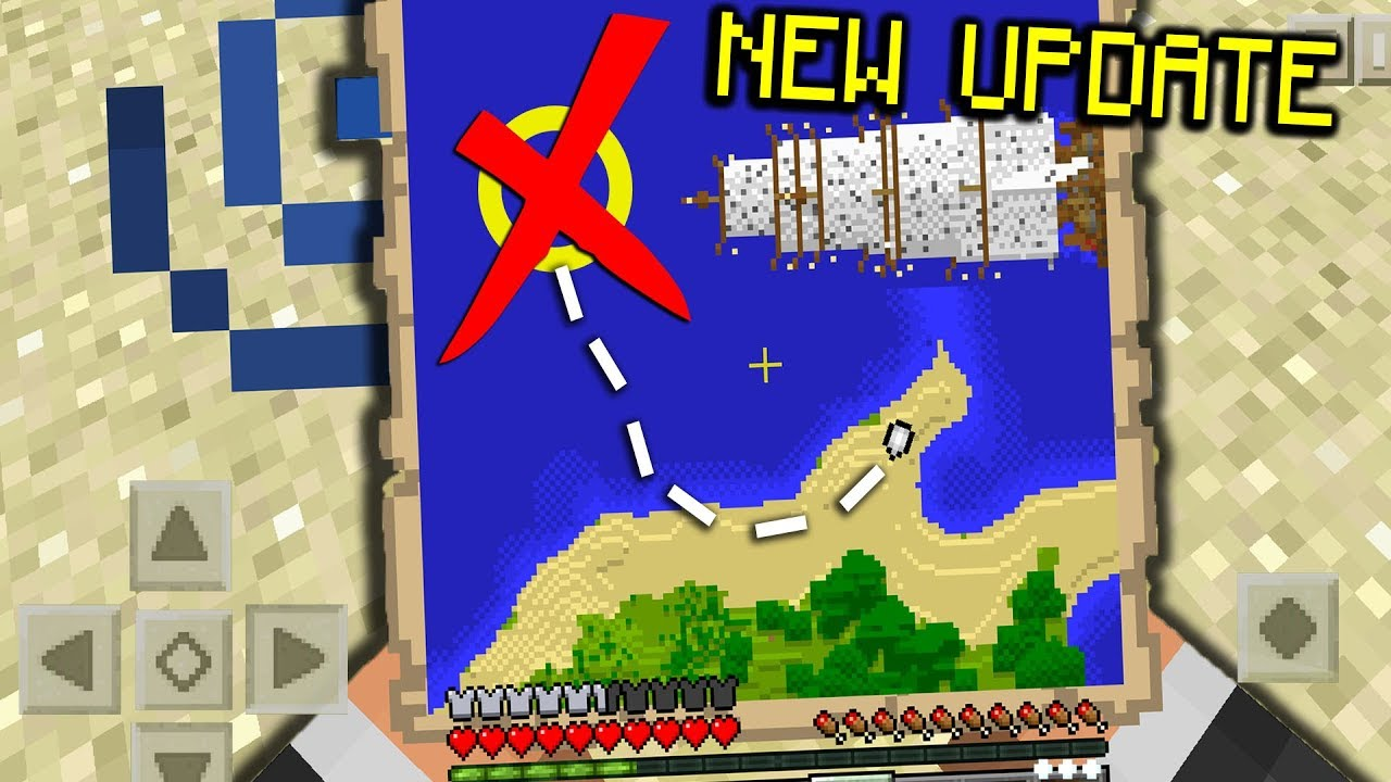 SECRET Treasure MAPS and CHESTS in Minecraft PE (Pocket Edition ...
