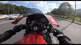 Москва, опасная езда на мото, валим на заднем!  Yamaha R1, Ducati Panigale
