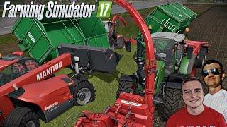 Kiszonka 2016 na dwie sieczkarnie ☆ Let's Play Farming Simulator 17 MP ㋡ Bronczek & MrAdamo15