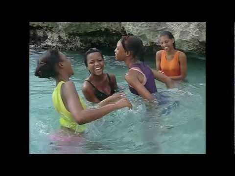 Girls at the Beach.  Whitehouse, Westmoreland, Jamaica.