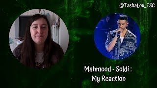 Tasha Reacts to Mahmood - Soldi [Eurovision Italy 2019]