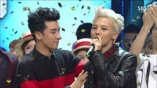 G-DRAGON_0915_SBS Inkigayo_삐딱하게(CROOKED) + No.1 of the week