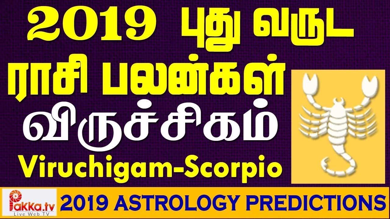 Viruchigam (Scorpio) Yearly Astrology Horoscope 2019 | New Year Rasi  Palangal 2019 | Scorpio 2019