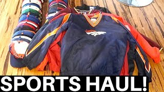 GARAGE SALE SPORTS HAUL - BIGGEST  EVER! ⚾🏈 $40 into $1500+ | RALLI ROOTS VLOG #113