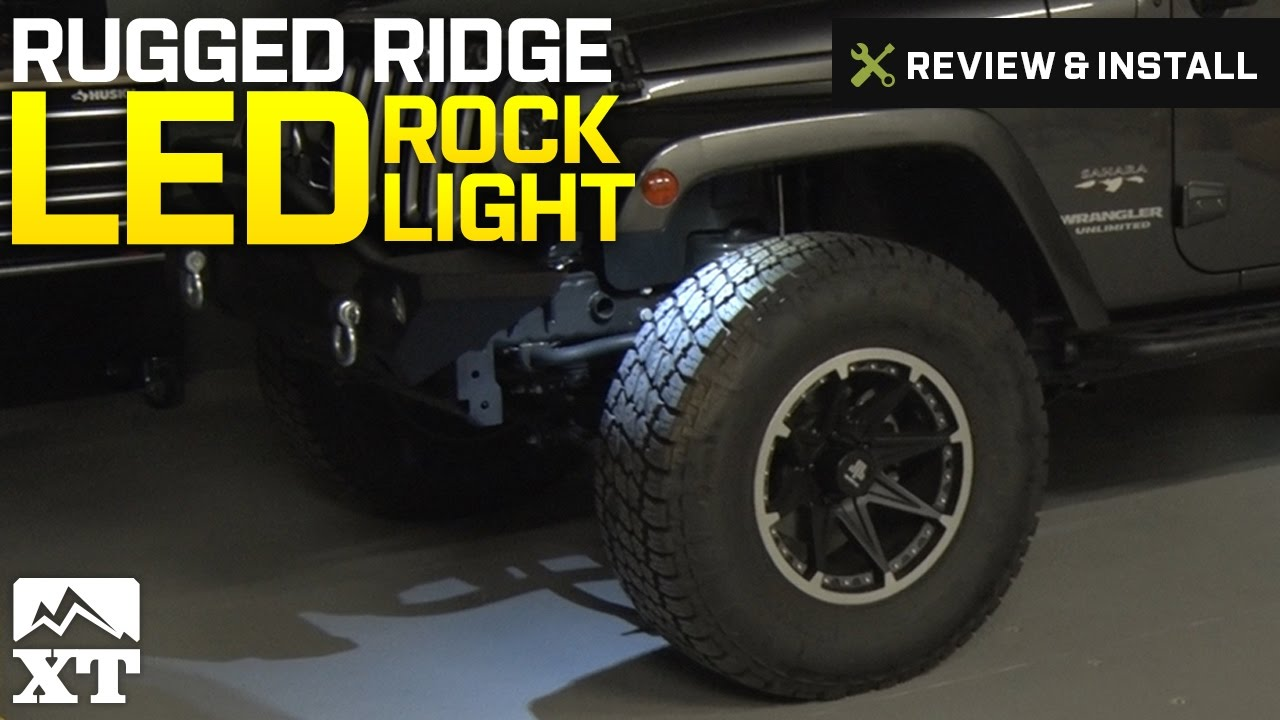 how to install rugged ridge 4 piece led rock light kit w harness white on your wrangler extremeterrain [ 1280 x 720 Pixel ]