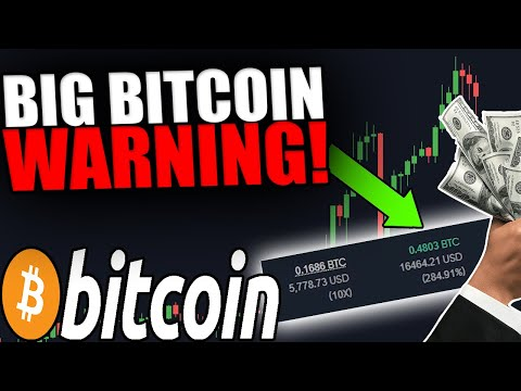BIG BITCOIN WARNING! I CLOSED MY BITCOIN TRADE [This Is Why…]