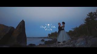 Bride with stunning silver wedding dress // wedding video at Vihterpalu manor, Estonia