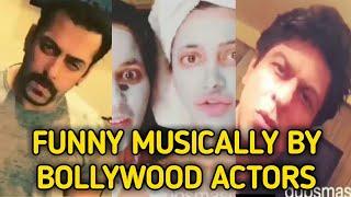 Salman Khan  Shah Rukh Khan  Bollywood actors Musically and Dubmash Video  FUNNY