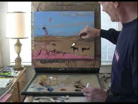 Landscape Oil Painting 104 Art Instruction Desert Horses Video