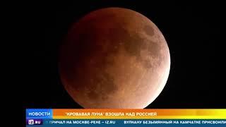 بالفيديو... القمر الدموي يقترب من الأراضي الروسية