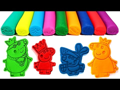 Thumbnail: Peppa Pig Royal Family Play-Doh Molds with Princess Peppa, Sir George, Daddy King, Mummy Queen
