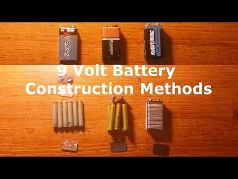 Different Construction Methods of 9 Volt Batteries
