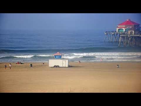 Great White Shark Triple Jump At Huntington Beach Pier