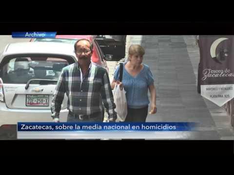 Zacatecas, sobre la media nacional en homicidios