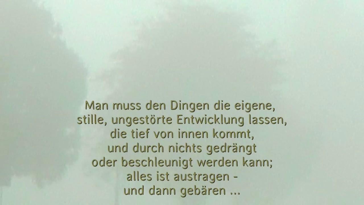 Rainer Maria Rilke über Die Geduld