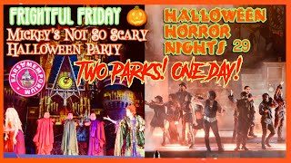 🔴LIVE: 2-Parks-1-Day! Frightful Friday. MNSSHP & HHN 29! Maximum Screamage!